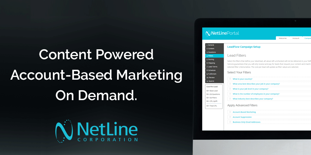 NetLine - leader in B2B Content Syndication Lead Generation - Content Powered ABM on Demand