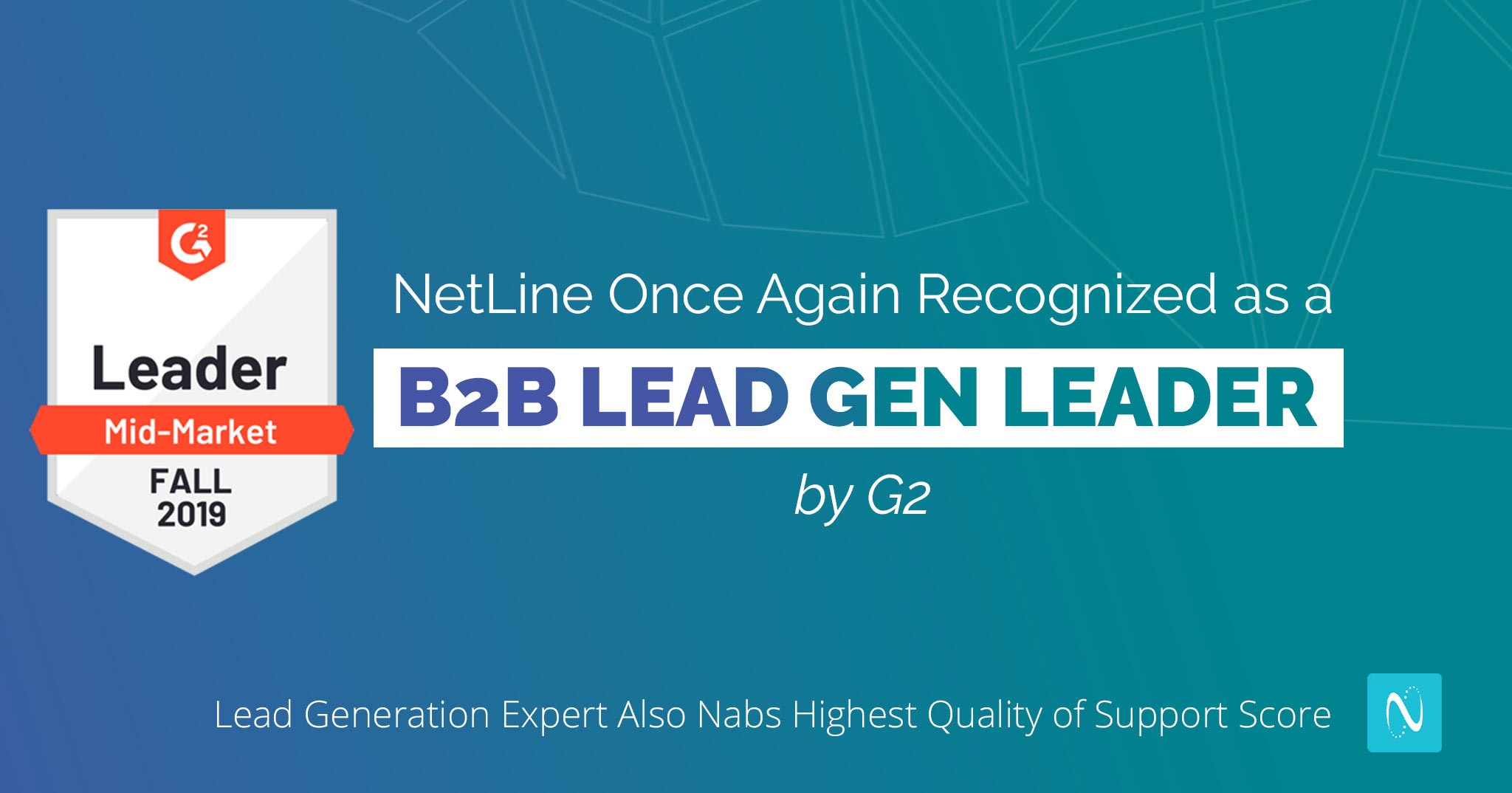 NetLine Once Again Recognized as a B2B Lead Gen Leader by G2